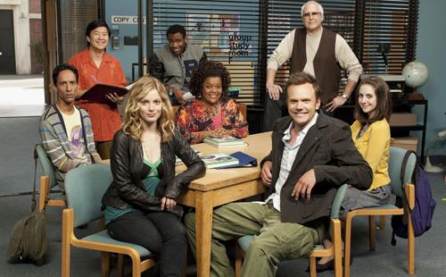 Abed, Chang, Britta, Troy, Shirley, Jeff, Pierce y Annie