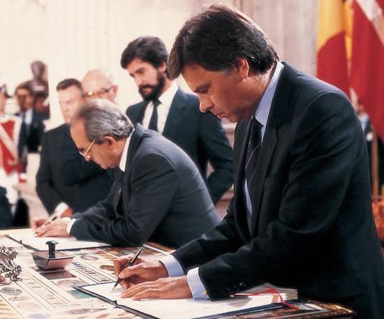 Firma de Adhesion a la CEE