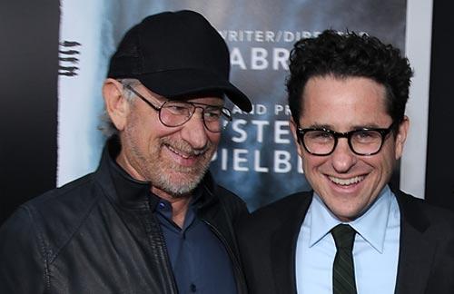 Spielberg y Abram en el preestreno