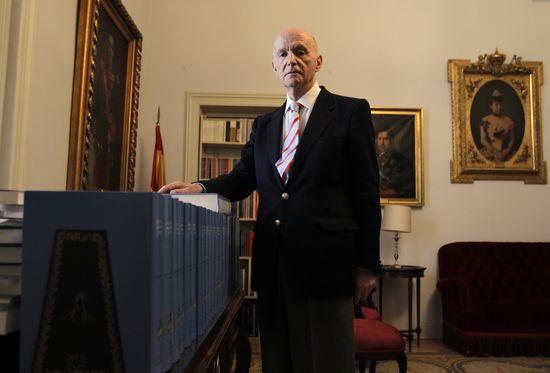 Gonzalo Anes en la Real Academia de la Historia. LUIS SEVILLANO