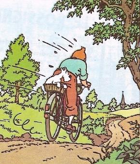 Tintin au vélo