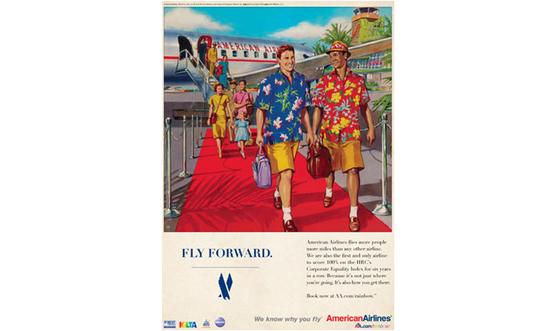 American Airlines y su pareja vintage