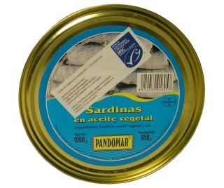 Sardinas en aceite con sello MSC