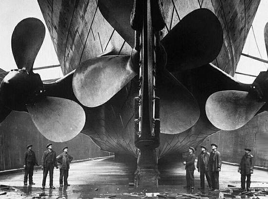 Hélices del Titanic.