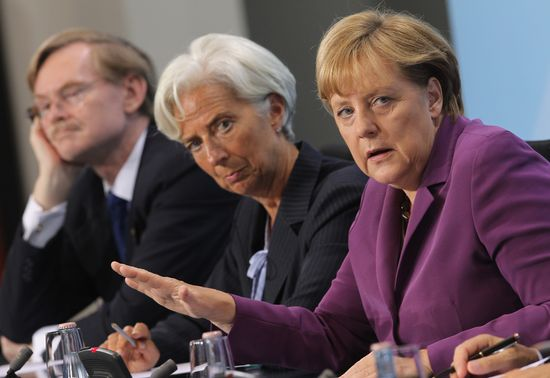 Angela Merkel y Christine Lagarde