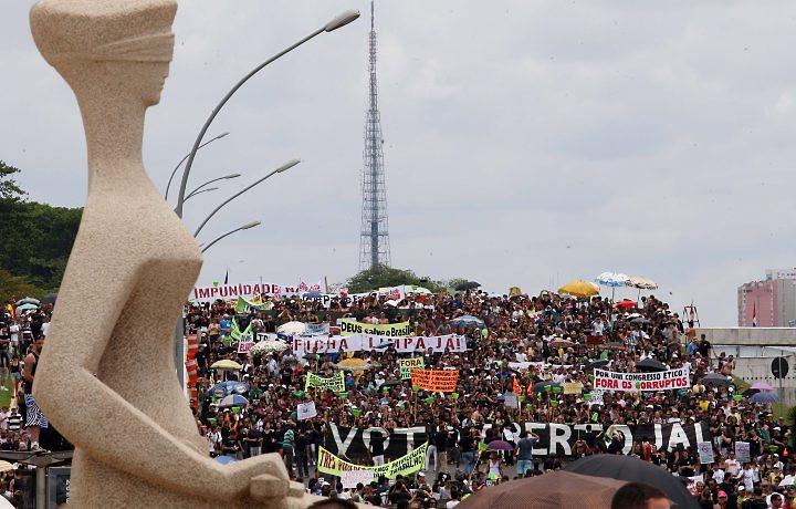 Marcha en Brasilia