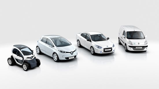 La familia eléctrica de Renault