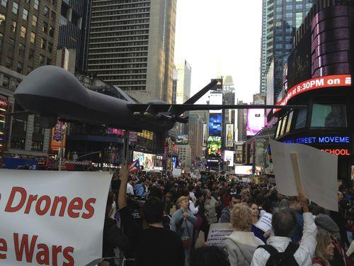 Drone en Times Square