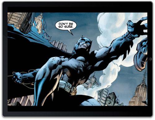 Batman en iPad