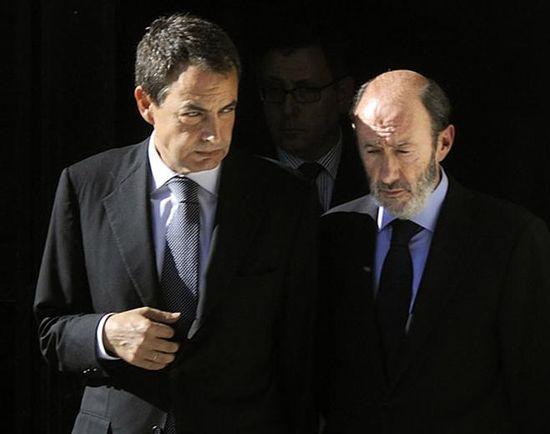 Rodriguez Zapatero y Rubalcaba