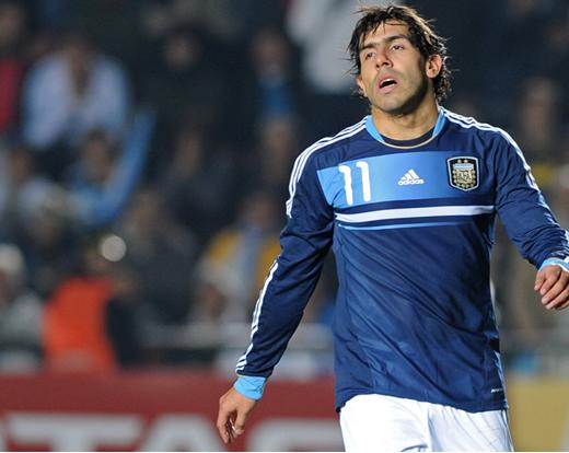 El futbolista argentino Carlos Tévez