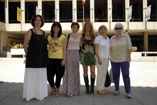 Las seis miembros del jurado del Premio Nacional de Cinematografía 2011
