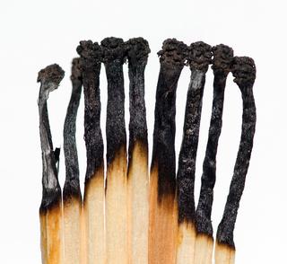 Cerillas quemadas