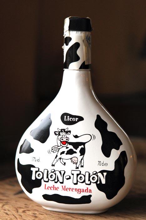 Botellas, vaca