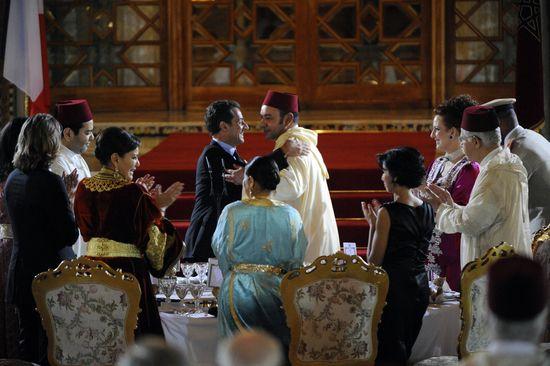 Sarkozy, de visita a Mohamed VI, en 2007 / Foto: AFP