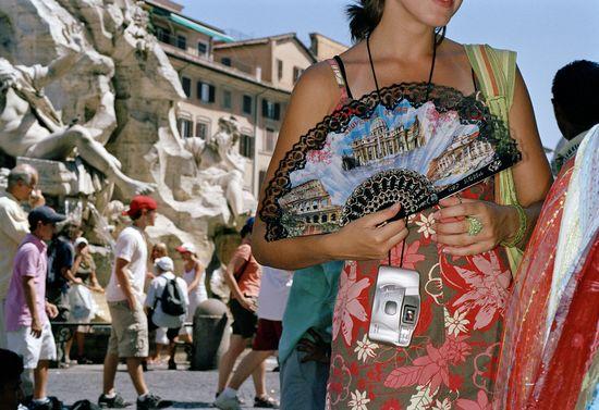 Turistas en Roma