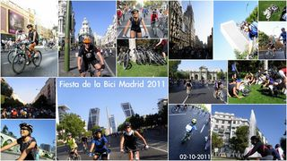 Imágbes de la fiesta de la bici en Madrid de Axel publicadas en www.enbicipormadrid.es