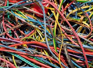 Residuos de cables