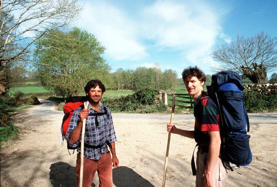 Dos peregrinos en el Camino de Santiago Isidoro Merino