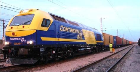 Tren de mercancías de Continental Rail de 600 m