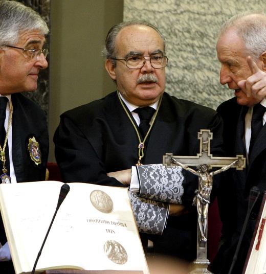 Gonzalo Moliner, Juan Saavedra y Ramón Trillo en 2010