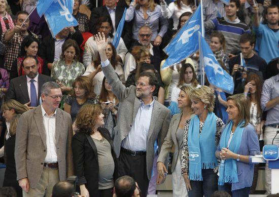 Soraya Sáenz de Santamaría en un acto electoral. BALLESTER (EFE)