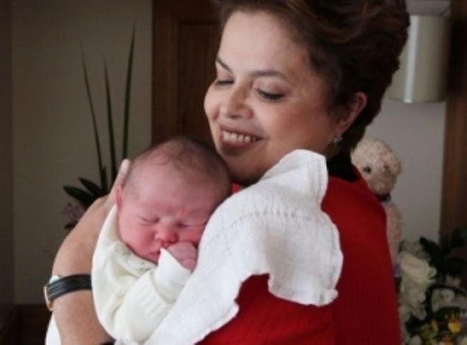 Dilma e seu neto
