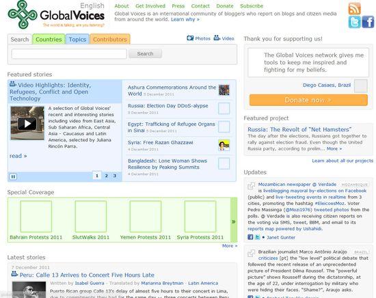 Página de Global Voices