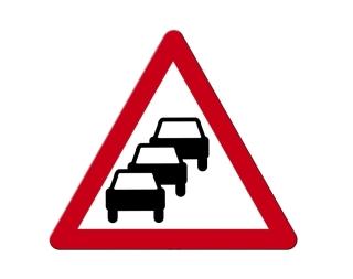 Señal de tráfico de congestión