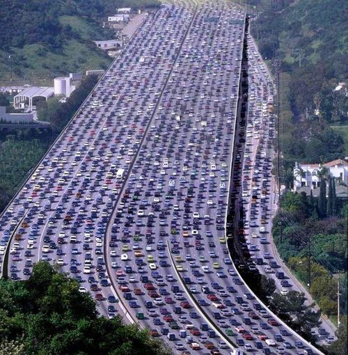 Traffic-jam masivo