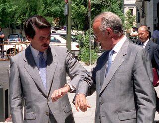 Javier Delgado con Aznar en cgpj Gorka Lejarcegi