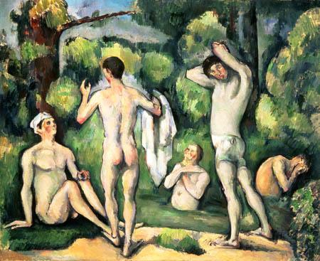 Cezanne_cincobañadores