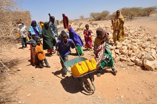 Desplazados del Cuerno de Africa