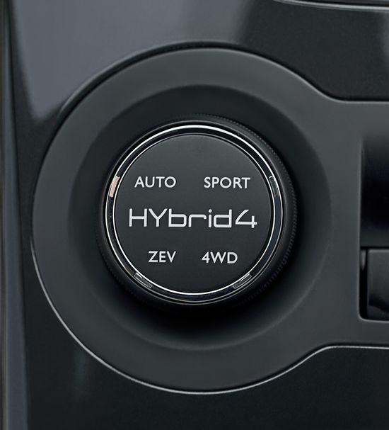 Mando selector de los programas de conducción del Peugeot 3008 HYbrid 4