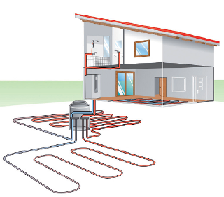 Sistema de calefacción y agua caliente con bomba de calor de Alpha Innotec