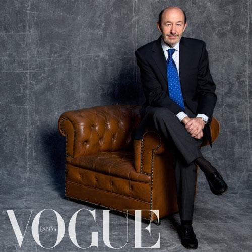 Rubalcaba en la portada de Vogue.