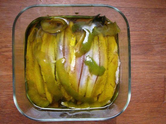 Boquerones marinados hinojo