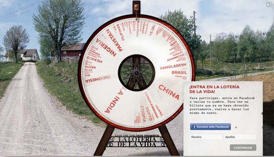 Imagen de la Web la loteria  de la vida