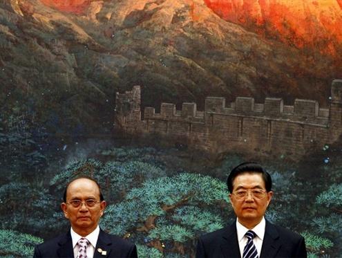 Thein-Sein-and-Hu-Jintao