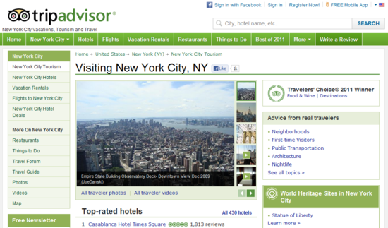 New York City Vacations  Tourism and New York City  New York Travel Reviews   TripAdvisor