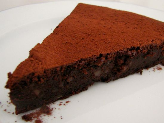 Tarta de chocolate y castana
