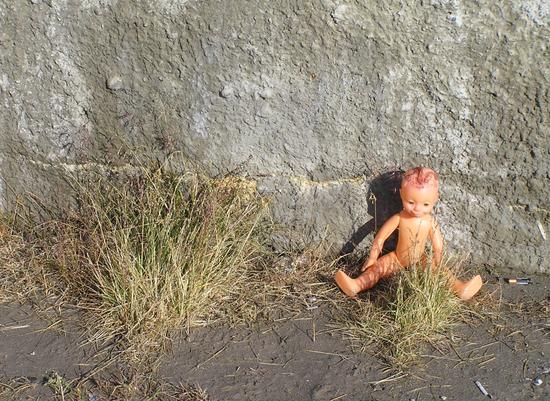 Barbie soviética en Pyramiden.