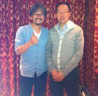 Aonuma y Kondo antes del concierto Zelda en Londres. /P.L.