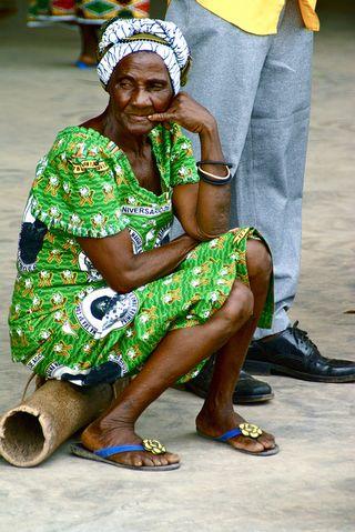 Una anciana en Annobón (Foto: Pablo Manríquez / Flickr)