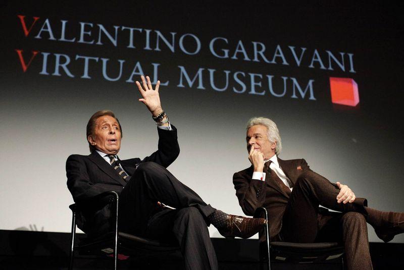 Valentino y Giammetti rueda de prensa