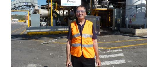 El director de StoraEnso Barcelona en la nueva planta