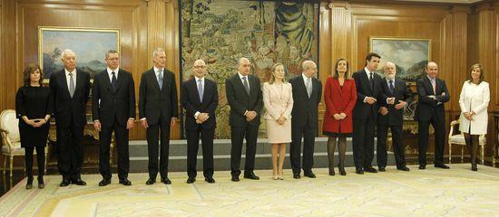 Primera imagen del nuevo  Gobierno. /  POOL/José Aymá