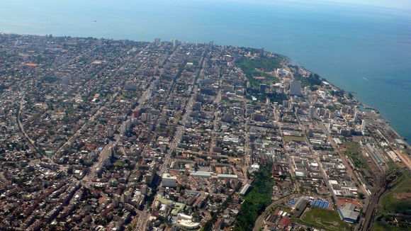 Vista aérea de maputo