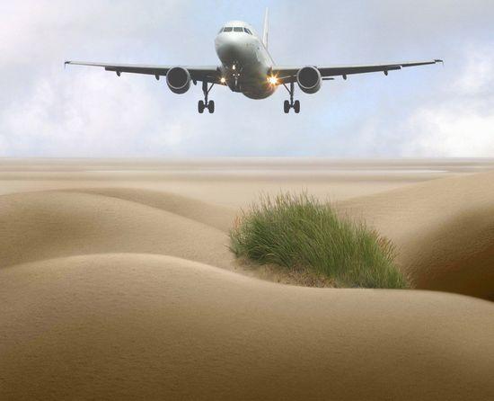Playa con avión