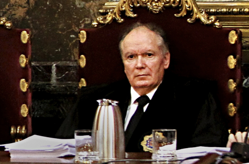 José Ramón Soriano en el tribunal del caso de los crímenes del franquismo